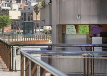 Una comunidad 'indiscreta' en la nueva rambla de Sants