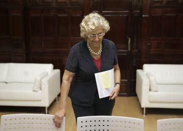 Carmena niega que haya divisiones dentro del grupo municipal de Ahora Madrid