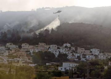 Incendio forestal en Xàbia