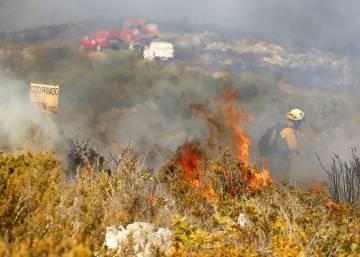 La Guardia Civil busca a pirómanos por los fuegos de Xàbia y Benitatxell