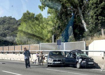 Un accidente con un muerto y siete heridos corta la AP-7 en Girona