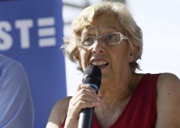 Manuela Carmena durante la presentación del programa de actos de la Semana de la Movilidad 2016.