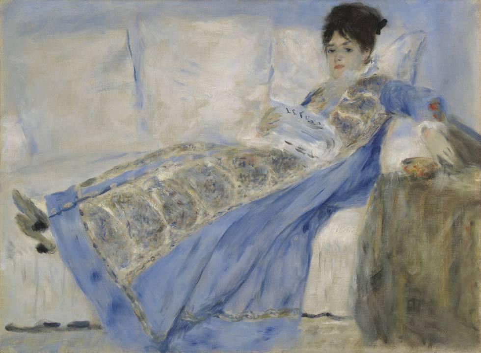 Retrato de la mujer de Monet, pintado entre 1872 y 1874.