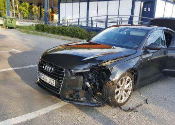 Puigdemont sale ileso de un accidente de tráfico