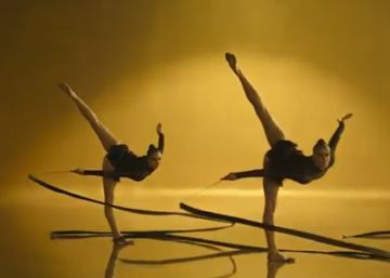 Freixenet repite en Navidad con las gimnastas de la rítmica