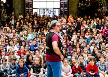 El artista Dani Miquel en la jornada de puertas abiertas del año pasado. Generalitat