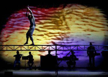 Un momento de la representación de la obra de Lluís Pasqual.