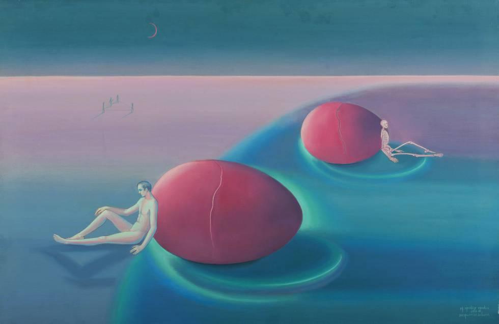 Una de las pinturas surrealistas de Margaret Modlin.
