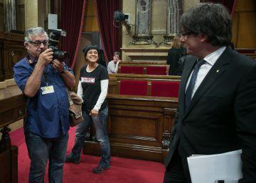 Puigdemont busca con Sí que es Pot y la CUP otro frente prorreferéndum