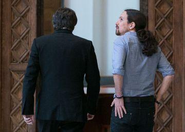 Puigdemont se reunirá con Pablo Iglesias el lunes en Madrid