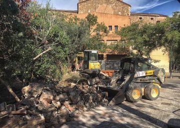ERC y la CUP denuncian la demolición del Rec Comtal en Sant Andreu