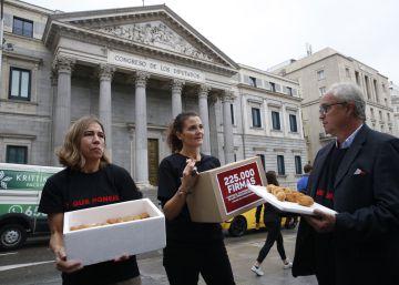 Croquetas hechas con sobras para alimentar al Congreso