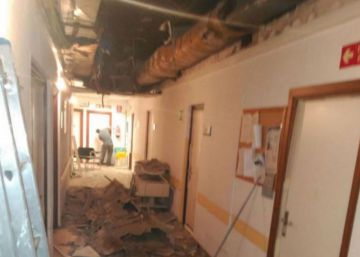 Parte del techo del Hospital 12 de Octubre se derrumba