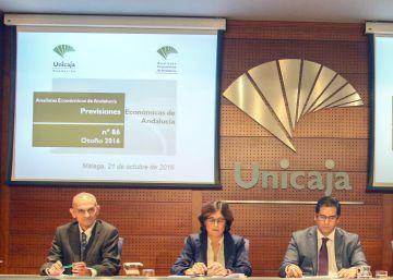 El crecimiento económico se frenará en Andalucía en 2017, según Unicaja