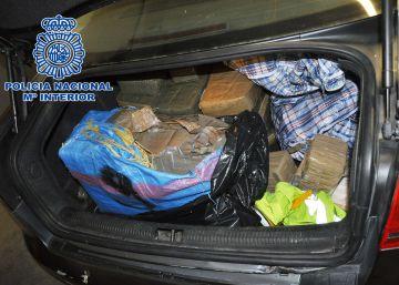 Decomisados 145 kilos de hachís en un pase de droga en Alcorcón