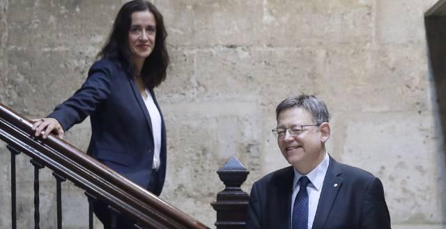 El presidente Ximo Puig, con la consejera del CJC Margarita Soler.