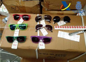Decomisadas 246.000 gafas falsificadas de la marca Rayban en Fuenlabrada