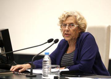 La alcaldesa de Madrid, Manuela Carmena, este martes en Madrid.
