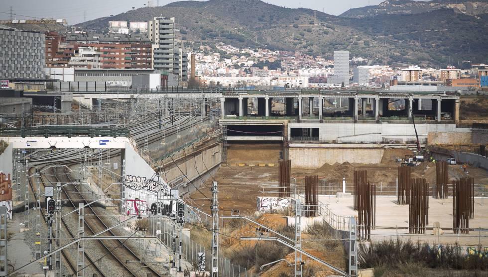 Obras en Sagrera en 2015.