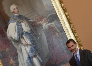 Felipe VI inagura un simposio sobre Carlos III