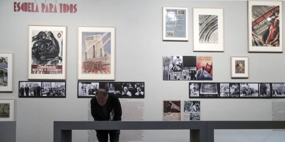 La exposición 'Tot està per fer' que se ha inaugurado en la Universitat.