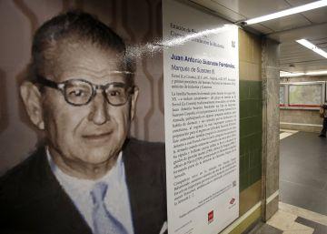 Metro coloca el retrato de un ministro franquista que obvia su vinculación con la dictadura
