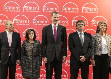 El Rey elude la cuestión catalana ante un Puigdemont reivindicativo