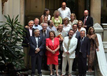 Rita Barberá, con los concejales del PP de Valencia.