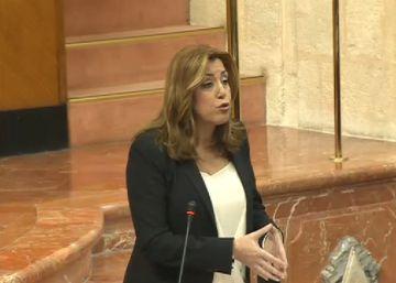 Susana Díaz esquiva las alusiones a la carrera por liderar el PSOE