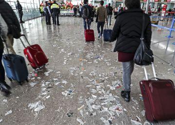 La limpieza del aeropuerto del Prat inicia una huelga de cinco días