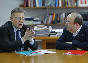 Iceta y Puig reivindican una reforma de la Constitución basada en la Declaración de Granada