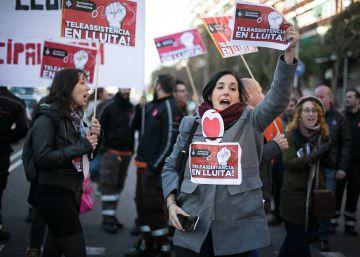 Masivo apoyo a la huelga del servicio de teleasistencia de Barcelona