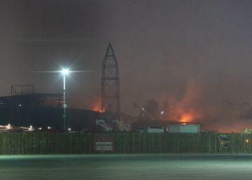 Arde un edificio en construcción del parque temático Ferrari Land