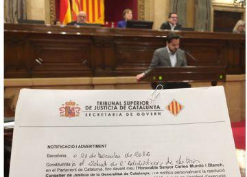 El Constitucional avisa a Puigdemont y a sus consejeros sobre el referéndum