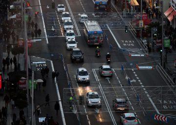 Las restricciones vuelven a Gran Vía sin causar atascos