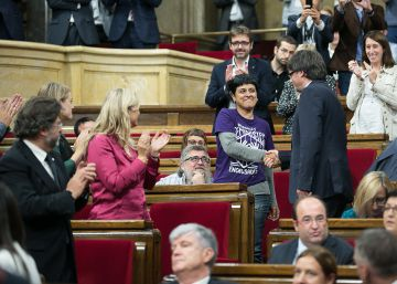Junts pel Sí y la CUP pactan la ley para amparar el referéndum