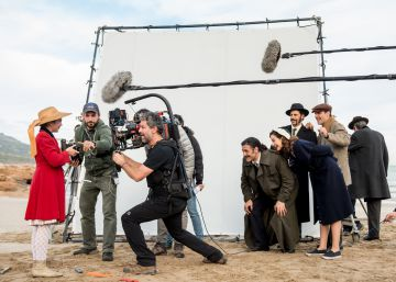El rodaje de una de las escenas de la serie.