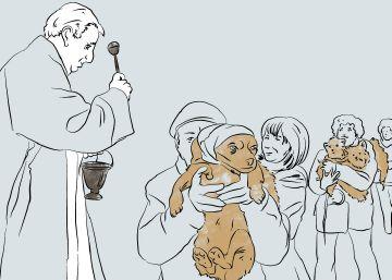 Los animales se van de fiesta con el padre Ángel