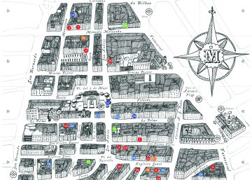 Un mapa de estética medieval para redescubrir Malasaña
