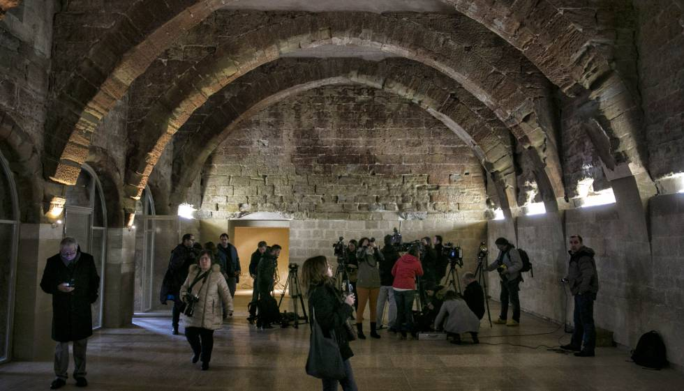 La sala capitular del monasterio de Santa Maria de Sijena, la semana pasada.