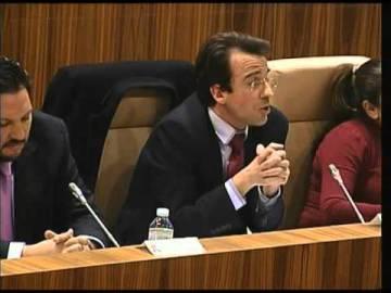 Miguel Ángel Recuenco, en un pleno municipal.