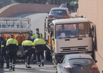 Barcelona police fire shots to stop man who stole gas-canister truck