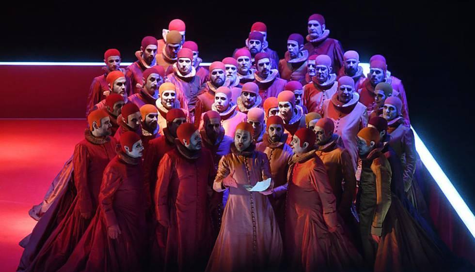 Un momento del 'Rigoletto' del Liceo.