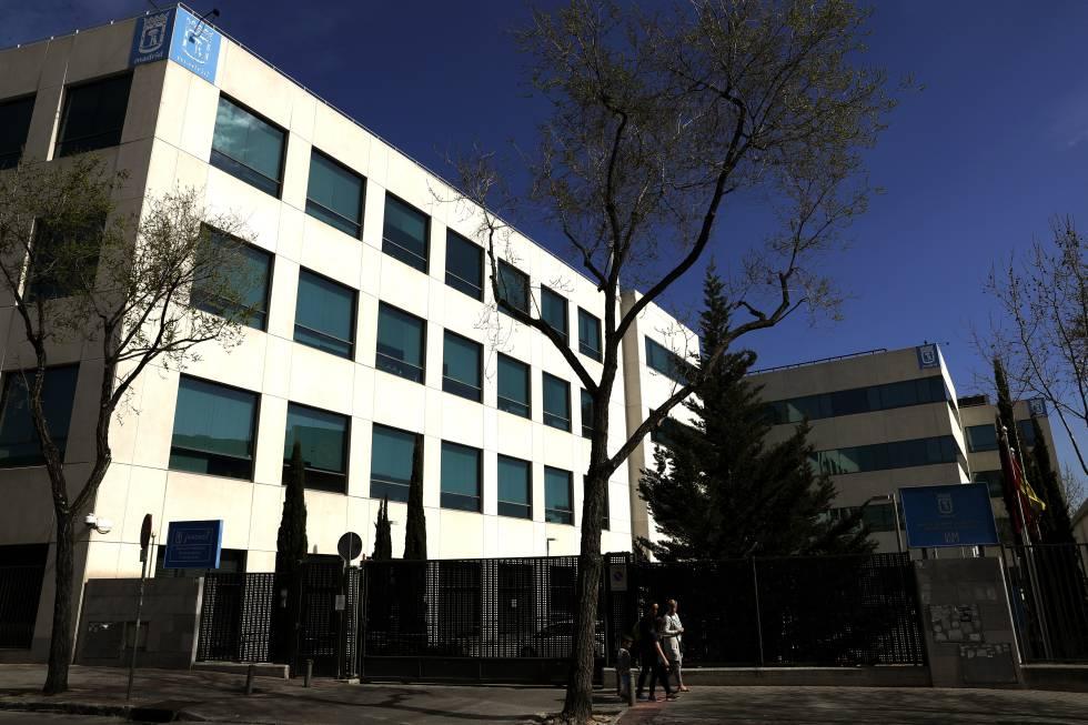 Fachada de la sede del Departamento de Informática del Ayuntamiento de Madrid.