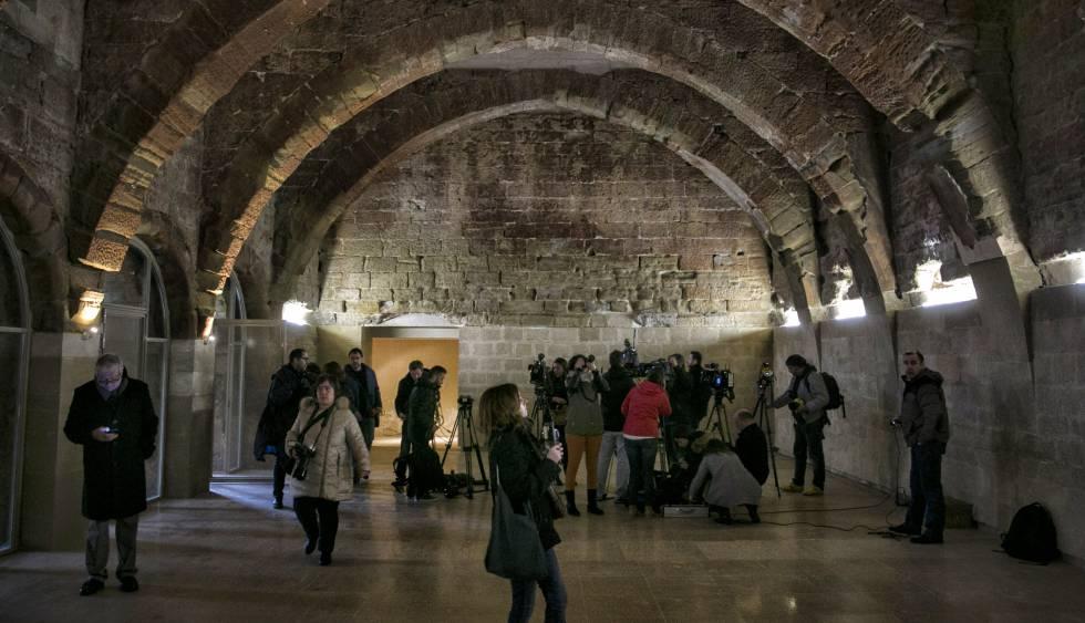 La sala capitular de Sijena, el día que fue presentada a los medios.
