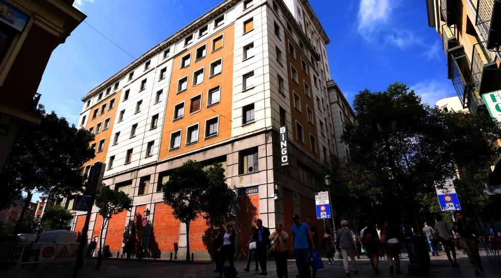 El edificio en la calle de Montera 25-27 de Madrid.