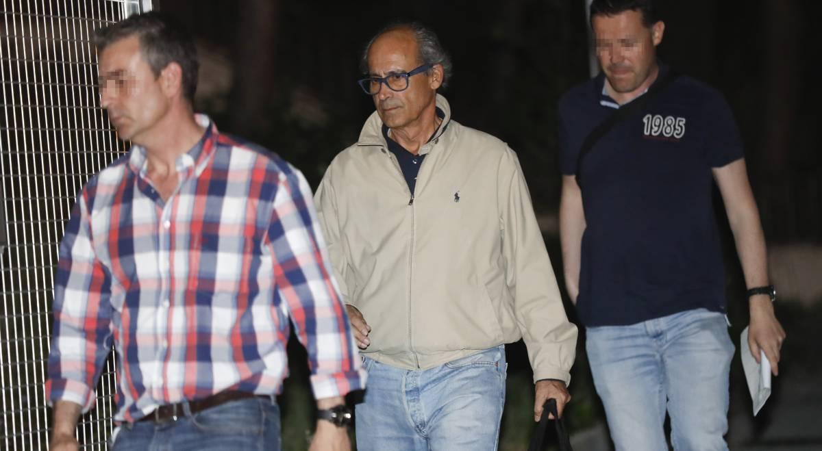 Detención de Edmundo Rodríguez Sobrino, el pasado miércoles.