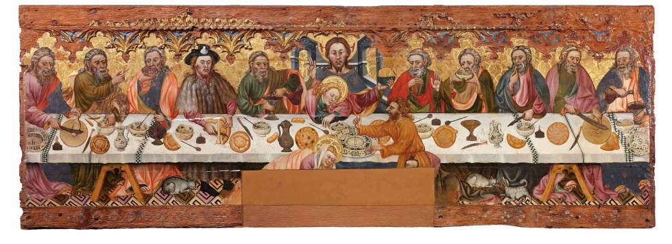 Retablo de la Santa Cena, pintado en el siglo XV por Pere Teixidor, conservado en el Museo de Solsona.