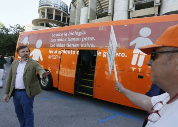 Bus with anti-transgender message is back on streets of Madrid