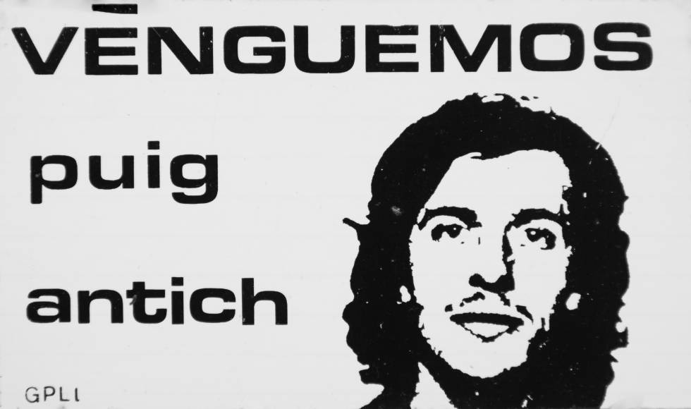 Cartel reivindicativo que exige venganza por la muerte de Puig Antich